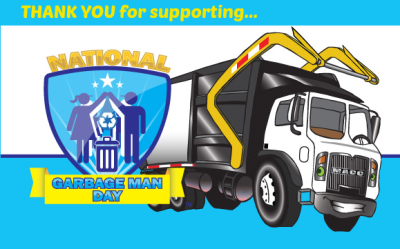 Thank You for Supporting Garbage Man Day