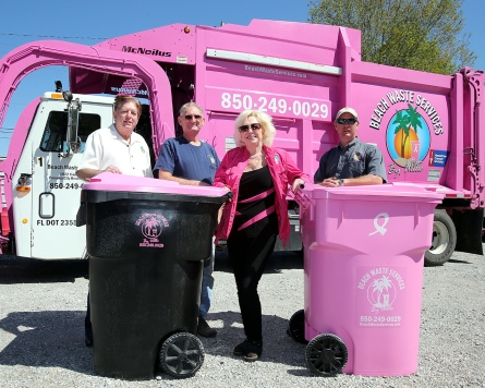 Beach Waste Services - Breast Cancer Awareness Month - National Garbage Man Day