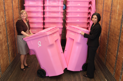 The Pink Cart - Breast Cancer Awareness Month - National Garbage Man Day