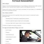 Safety Tuesday – Fatigue Management