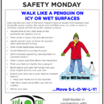 Safety Tuesday -Icy or Wet Surfaces