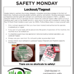 Safety Tuesday Lockout/Tagout