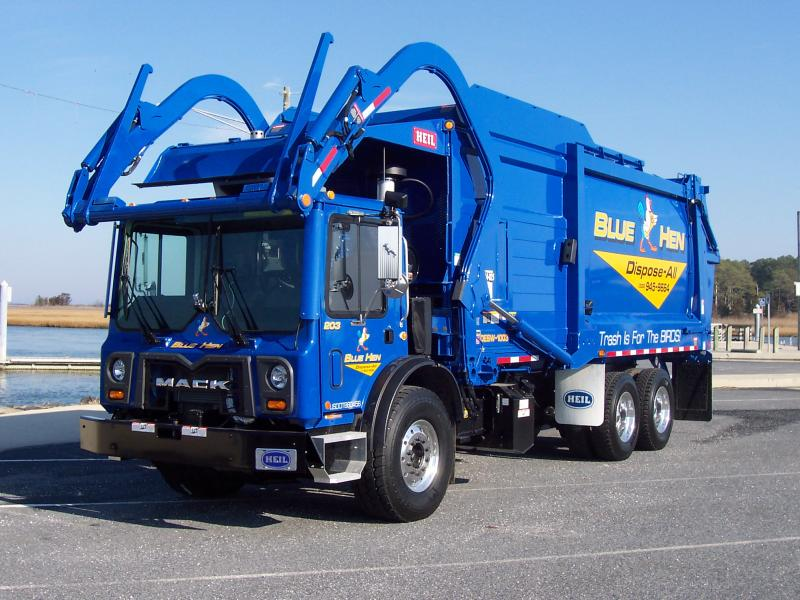 Value Of Commercial Trucks >> Truck / Vehicle - Blue Hen Disposal - Garbage Man Day