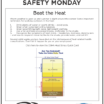 Safety Tuesday – How to Beat the Heat