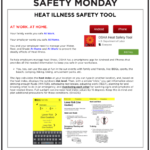 Safety Tuesday -Heat Illness Safety Tools