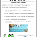 Safety Tuesday – Summer is a Time for Celebration