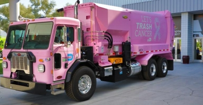 Miami-Dade County, Florida Department of Solid Waste Management (DSWM) Pink Trucks for Breast Cancer Awareness