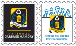 Waste and Recycling Workers Week Stamps