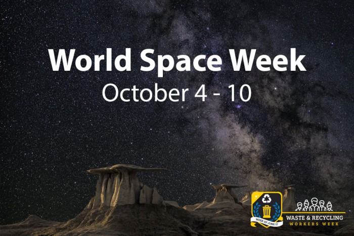 World Space Week 2020 - October 4 - 10 | WasteRecyclingWorkersWeek.org
