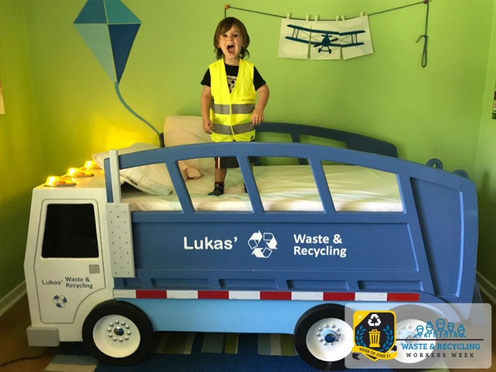 Custom Beds to Thrill Your Littlest Garbage Truck Fan - Waste & Recycling Workers Week